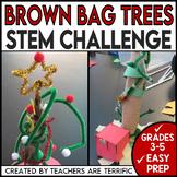 Christmas STEM Challenge Brown Bag Tree