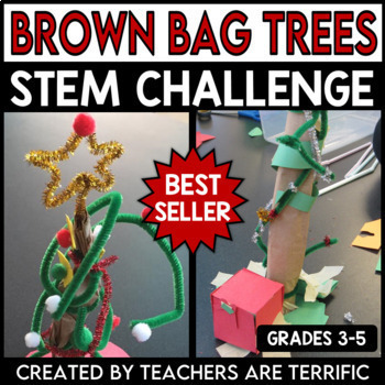 STEM Activity Challenge Brown Bag Christmas Tree