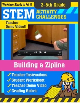STEM Activity Challenge - Building a Zipline (3rd-5th Grade)