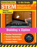 STEM Activity Challenge - Building a Zipline (6th - 8th Grade)