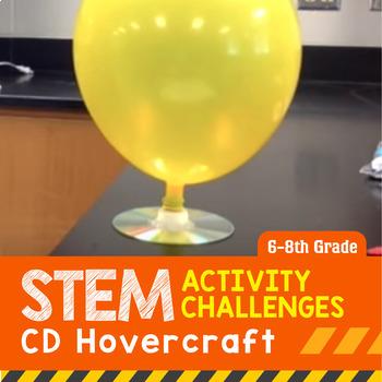 STEM Activity Challenge CD Hovercraft 6th-8th grade