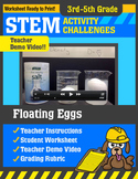 STEM Activity Challenge Floating Eggs 3rd-5th grade