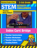 STEM Activity Challenge - Index Card Bridge (3rd-5th Grade)