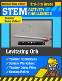 STEM Activity Challenge Levitating Orb 3rd-5th grade