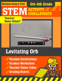 STEM Activity Challenge Levitating Orb 6th-8th grade