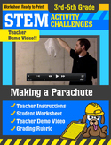 STEM Activity Challenge Making a Parachute 3rd-5th grade