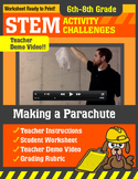 STEM Activity Challenge Making a Parachute 6th - 8th grade