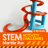 STEM Activity Challenge Marble Run 6th-8th grade