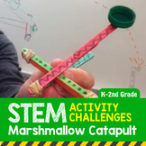 STEM Activity Challenge Marshmallow Catapult K-2nd Grade