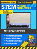 STEM Activity Challenge Musical Straws 3rd-5th grade