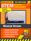 STEM Activity Challenge Musical Straws 6th - 8th grade