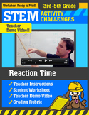 STEM Activity Challenge Reaction Time 3rd-5th grade