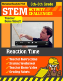 STEM Activity Challenge Reaction Time 6th - 8th grade