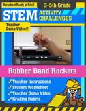 STEM Activity Challenge - Rubber Band Rockets (3rd-5th Grade)