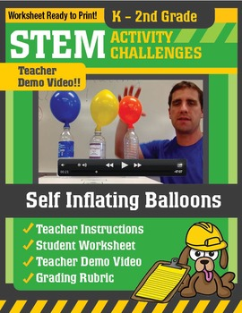 STEM Activity Challenge Self Inflating Balloons K-2nd Grade