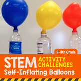 STEM Activity Challenge Self Inflating Balloons grade 6th-8th grade