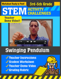 STEM Activity Challenge Swinging Pendulum 3rd - 5th grade