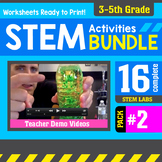 STEM Activity Challenges 16 Pack #2 (3rd - 5th Grade)