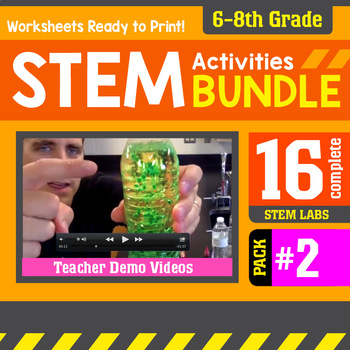 STEM Activity Challenges 16 Pack #2 (6th-8th Grade)