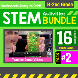 STEM Activity Challenges 16 Pack #2 {K - 2nd Grade}