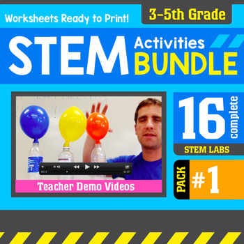 STEM Activity Challenges 16 Pack 3rd - 5th Grade (PDF version)