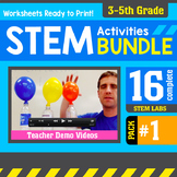 STEM Activity Challenges 16 Pack 3rd - 5th Grade (Pack #1)