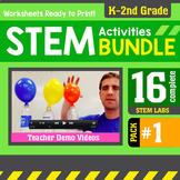 STEM Activity Challenges 16 Pack #1  (K - 2nd Grade) Bundle