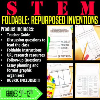 STEM Activity Foldable-Repurposed Inventions