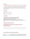 STEM Activity: How strong is a piece of paper?