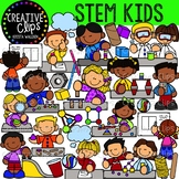 STEM Activity Kids {Creative Clips Clipart}