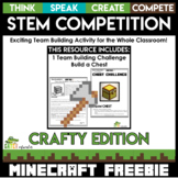 Minecraft STEM Activities and Challenges Freebie