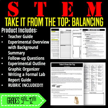 STEM Activity-Take It From the Top: Balancing and Center of Gravity