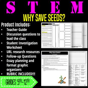 STEM Activity-Why Save Seeds?