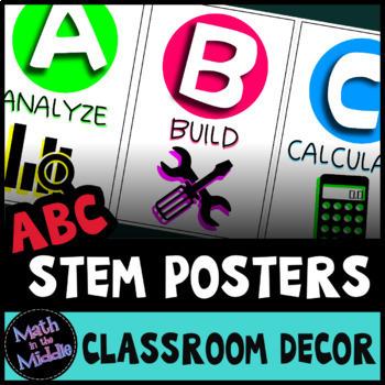 STEM Posters - ABCs of STEM Classroom Decor Alphabet