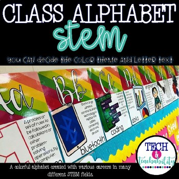 STEM Alphabet Posters: Design Your Own Theme!
