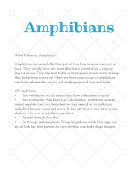 Writing prompts with textual information- Animals and Habitats