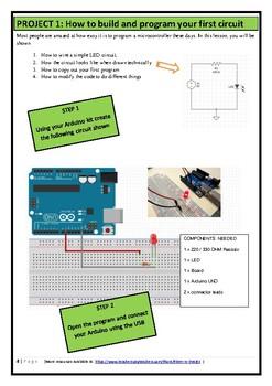 STEM Arduino Card Blink and lights TEACHER