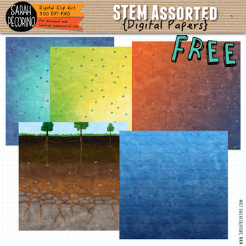 STEM Assorted Digital Papers {FREE}