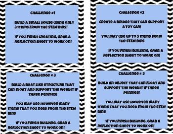 STEM BIN Task Cards