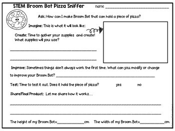 STEM Back To School Pizza Themed Pack with Character Building Activities