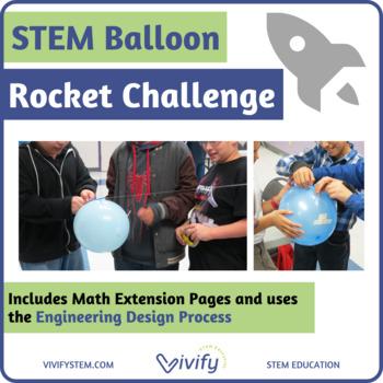 STEM Balloon Rocket Design Challenge (Engineering Design Process)