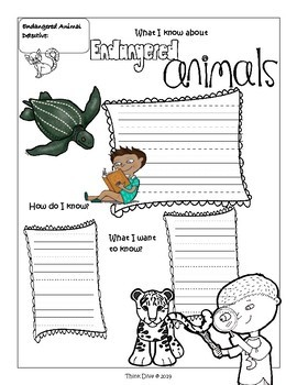 STEM Be an Endangered Animal Detective  -  Identify and Solve Problems