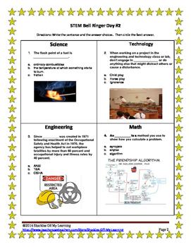STEM Bell Ringers/ Warm Ups 5.0