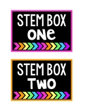 STEM Bin Bright Labels