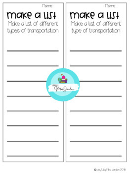 STEM Box:  Lego Transportation Task Cards