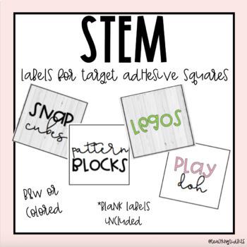 STEM Labels (Farmhouse Brights)