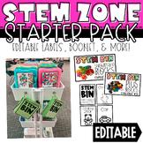 STEM Bin Starter Pack - Labels, Booklet, + Worksheets