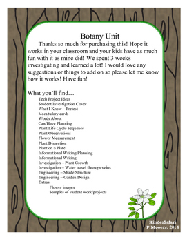 STEM Botany/Plant Unit