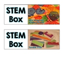STEM Boxes Labels