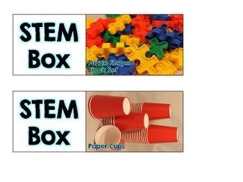 STEM Boxes Labels